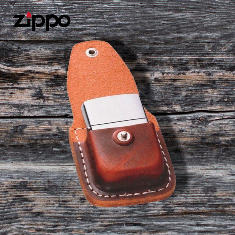 کیف چرم فندک زیپو Zippo Pouch Brown