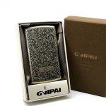 جعبه سیگار فلزی برنزی Gvipai مدل نقش ریز