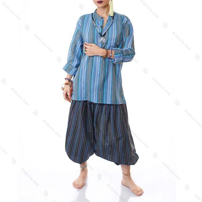 بلوز هیپی استایل سنتی آبی آسمانی – Sky Blue Kurta Shirts