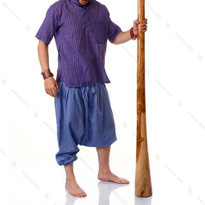 بلوز هیپی استایل سنتی بنفش – Kurta Pancy Shirts