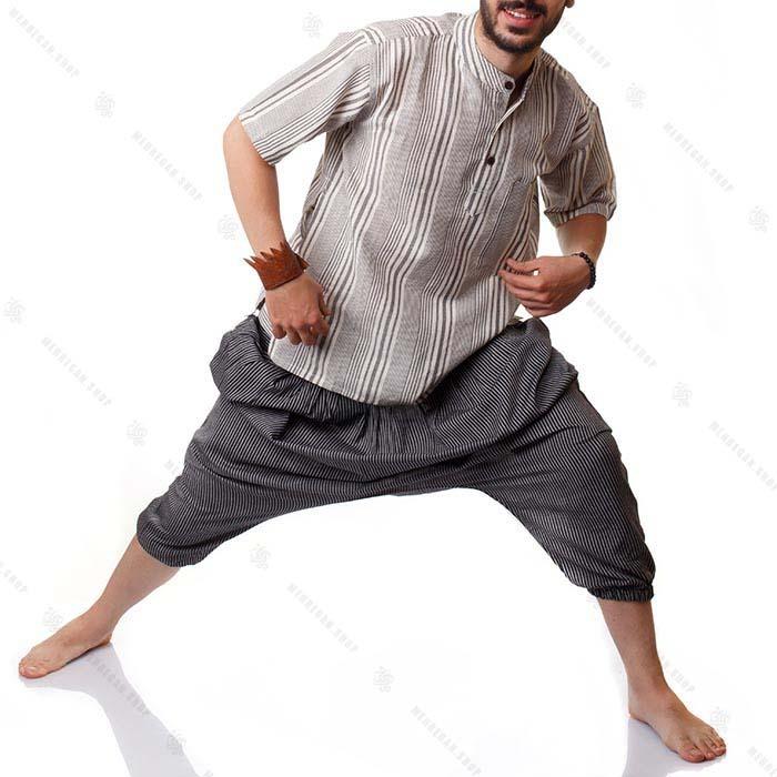 پیراهن سنتی هیپی استایل شیری – Hippie Kurta Shirt