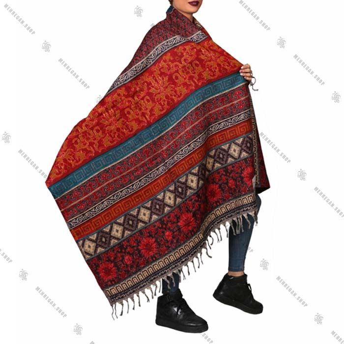 شال رودوشی و رویه لباس کد ۷۰۱۲