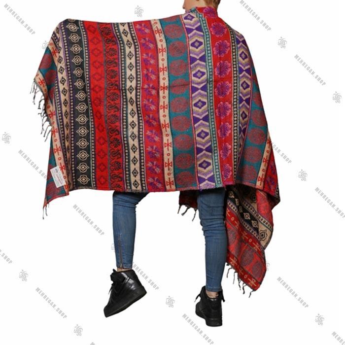شال رودوشی و رویه لباس کد ۷۰۱۸
