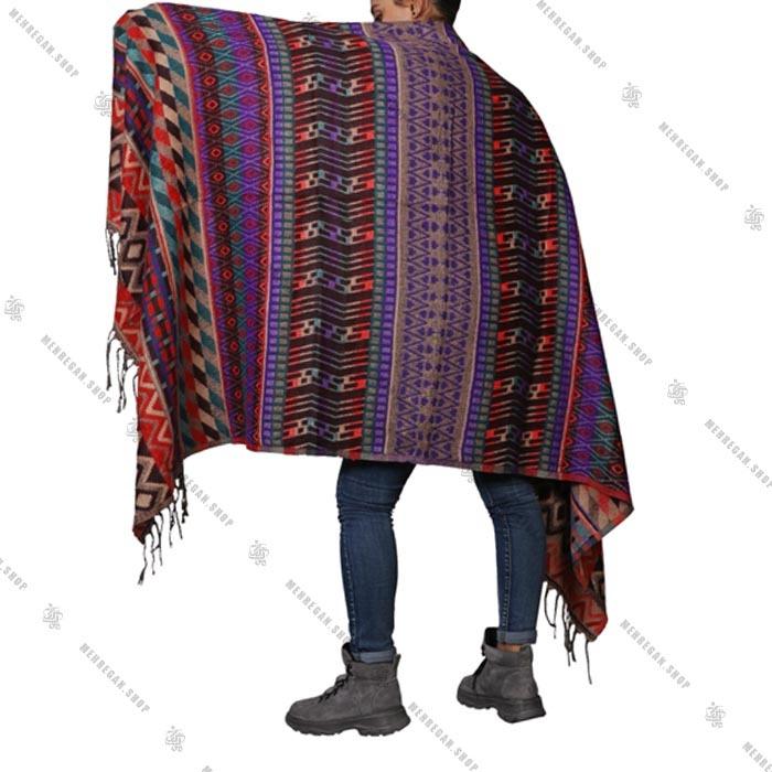 شال رودوشی و رویه لباس پشمی