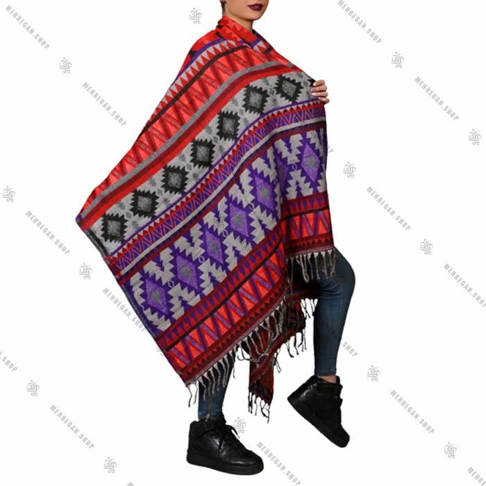 شال رودوشی و رویه لباس پشمی نپالی