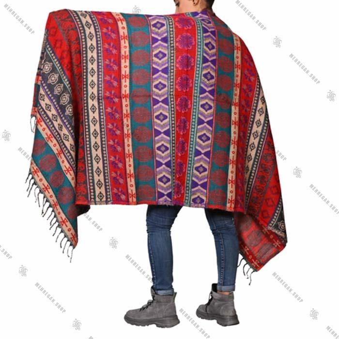 شال رودوشی و رویه لباس کد ۷۰۱۳