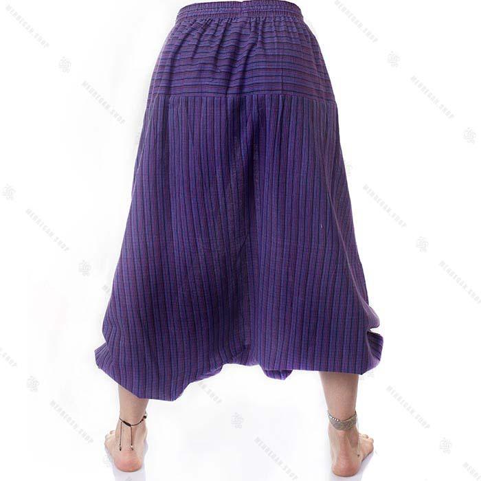 شلوار سنتی یوگا هیپی استایل بنفش – Kurta Pancy Trouser