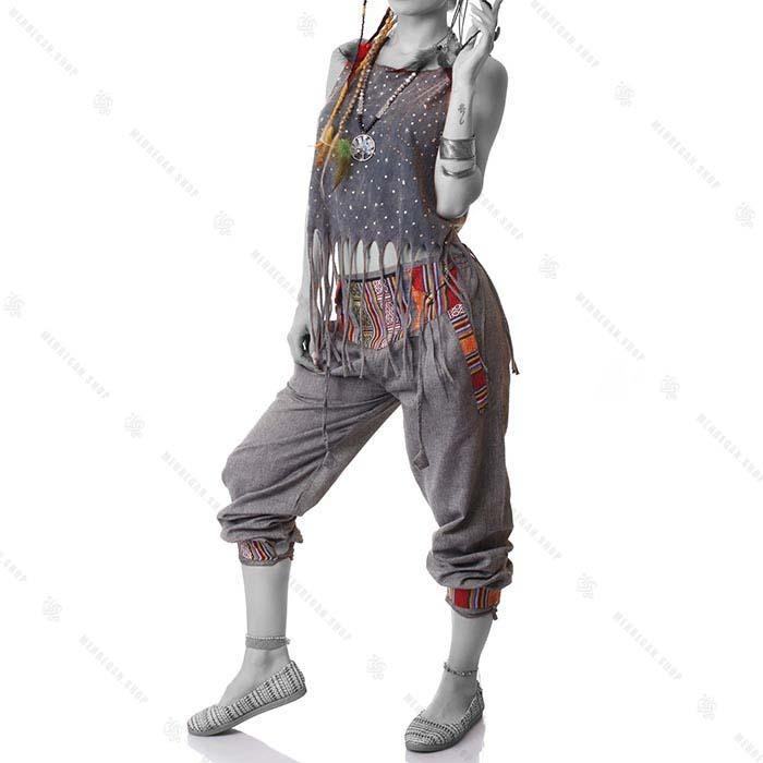 شلوار گلیمی سنتی نقره ای – Silver Kilim Trouser