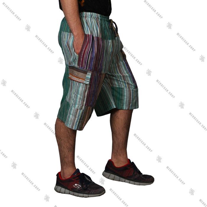 شلوارک نپالی کتان فری سایز