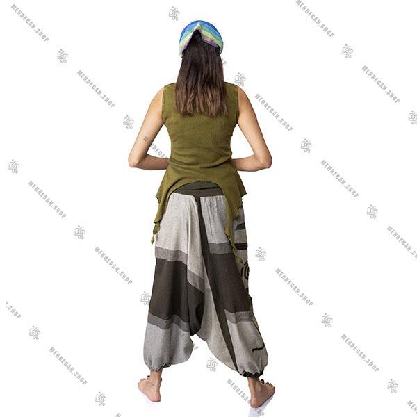 شلوار فری سایز نپالی جیب دار