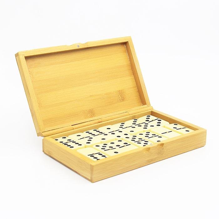 بازی فکری دومینو جعبه چوبی