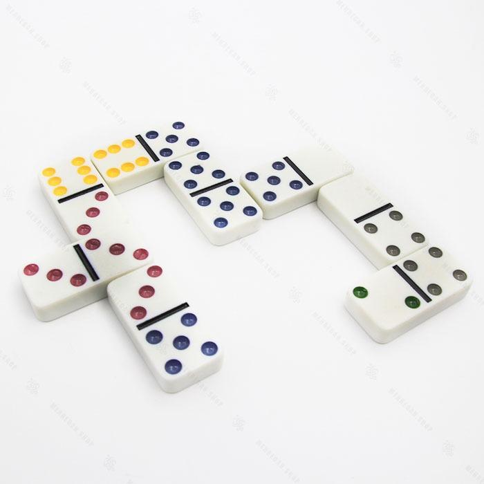 بازی فکری دومینو جعبه فلزی Dominoes