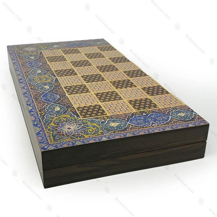 تخته نرد و شطرنج کلاف دور چوب با روکش ضد خش
