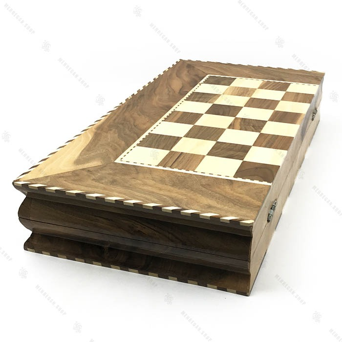 تخته نرد و شطرنج دست ساز با چوب گردو