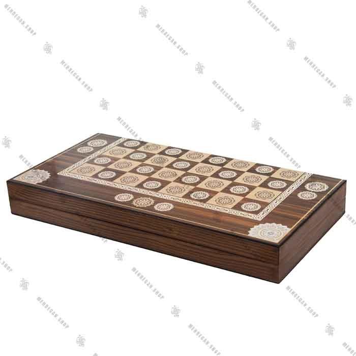 تخته نرد و صفحه شطرنج چوبی سه لایه