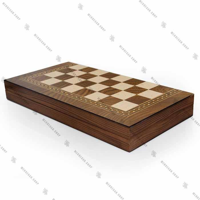 تخته نرد و صفحه شطرنج جنس چوب سه لایه