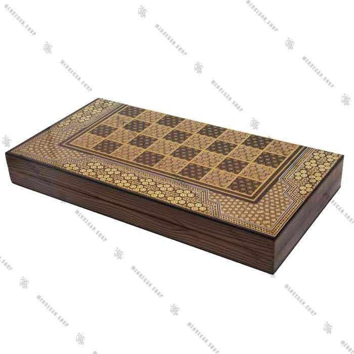 تخته نرد و صفحه شطرنج سه لایه جنس چوب