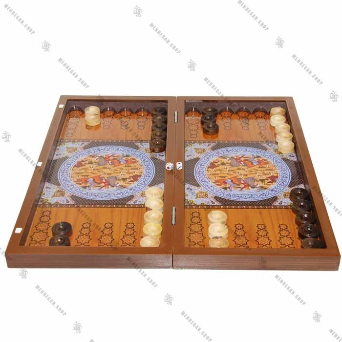 تخته نرد جنس چوب و صفحه شطرنج