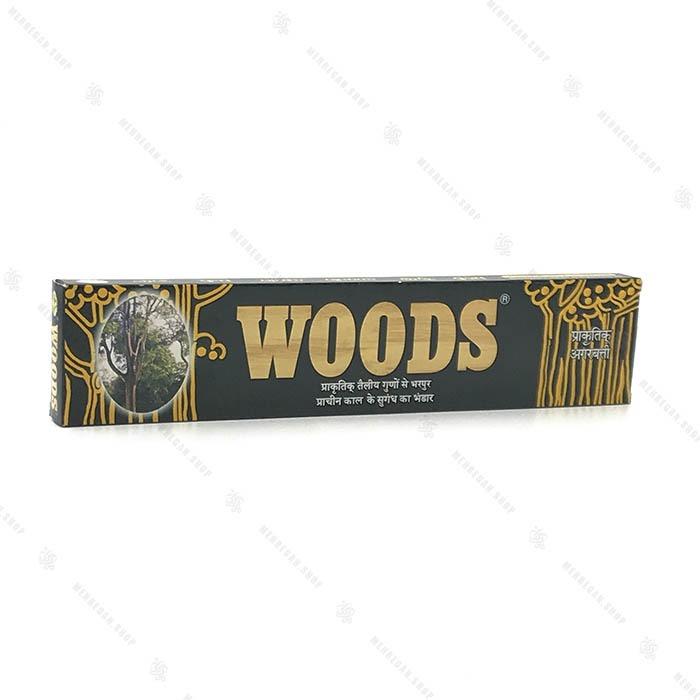 عود دست ساز هندی رایحه چوب جنگلی WOODS
