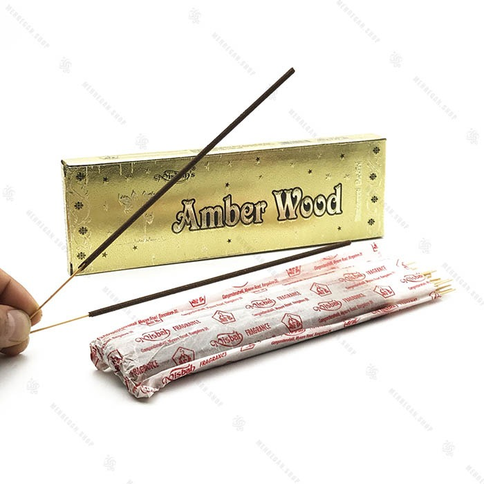 عود دست ساز هندی رایحه چوب امبر Amber Wood