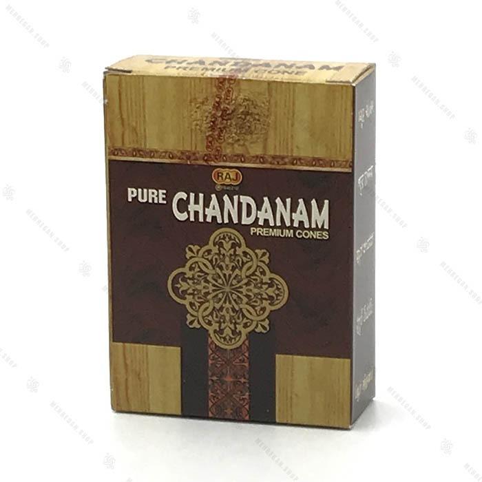 عود هندی دست ساز مخروطی با رایحه چوب چاندان Chandan
