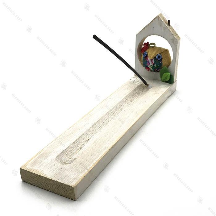 جاعودی چوبی با عروسک جغد
