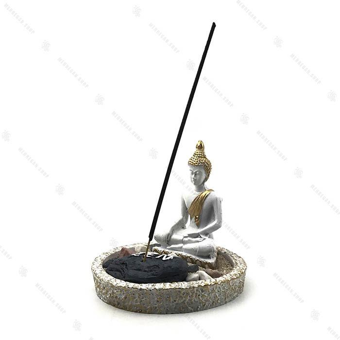جاعودی فنگ شویی با مجسمه بودا و شن و سنگ