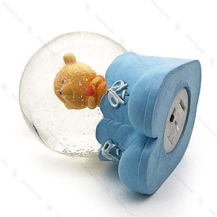 گوی برفی چراغ دار عروسک خرس