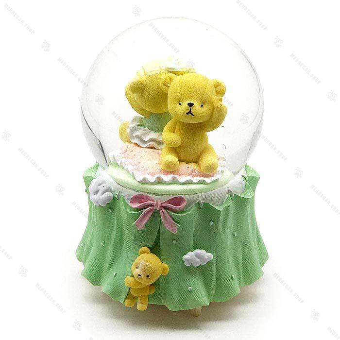 گوی برفی شیشه ای موزیکال طرح خرس