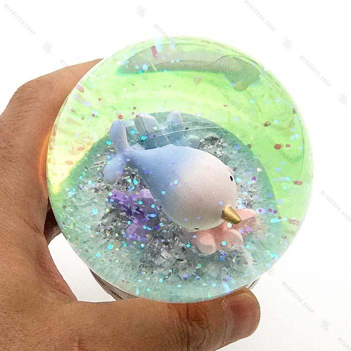 گوی شیشه ای برفی چراغ دار دریایی