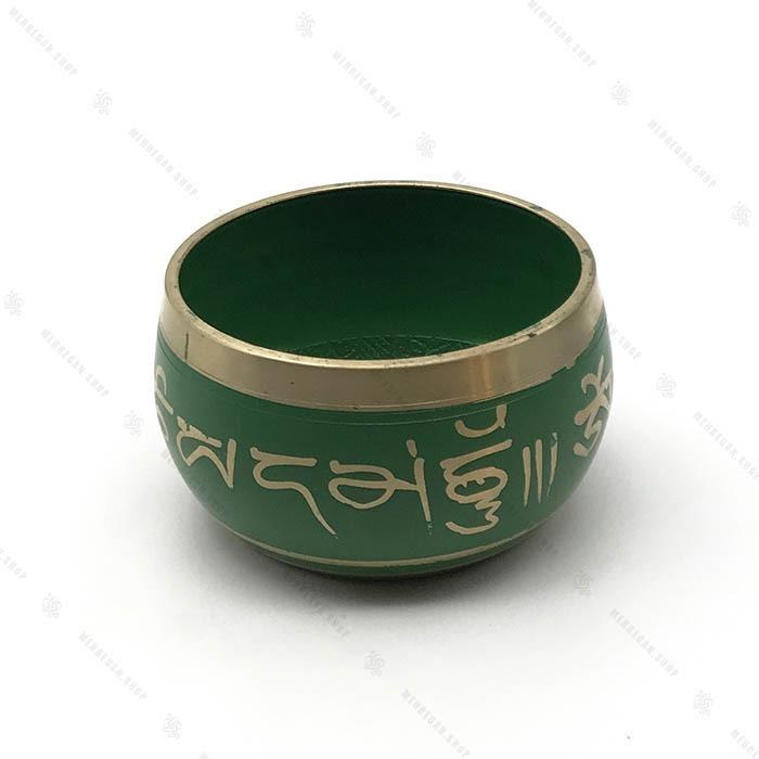 کاسه تبتی سبز سایز ۱