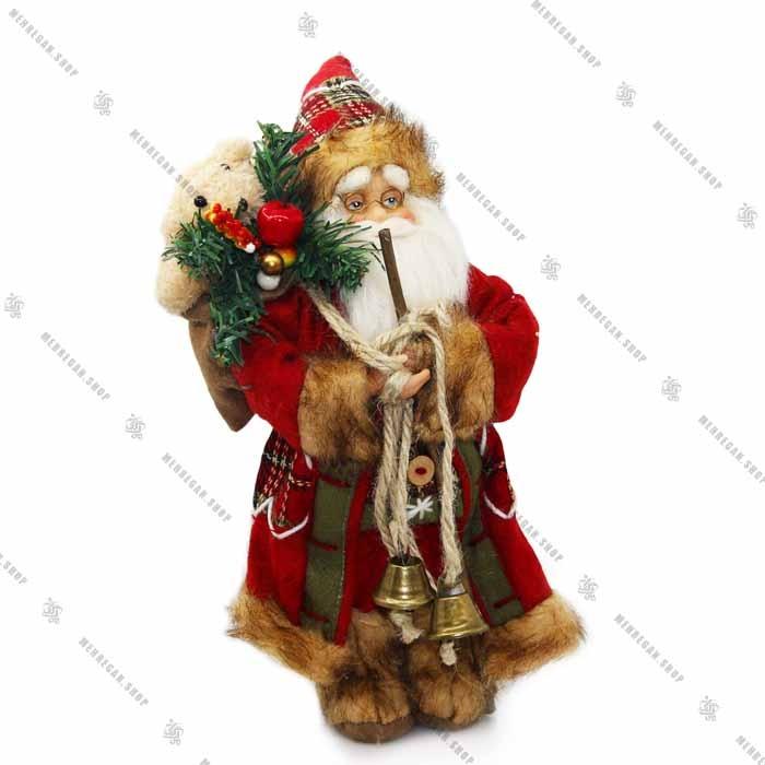 عروسک بابانوئل دکوری به همراه کوله پشتی