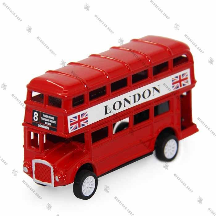 تراش فلزی دکوری طرح اتوبوس دوطبقه انگلیسی
