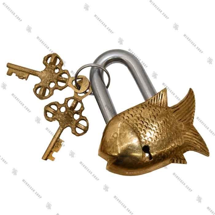 قفل برنجی ماهی