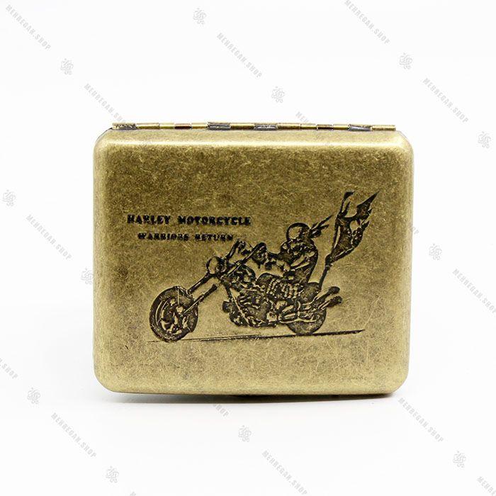 جعبه سیگار فلزی برنزی ۲۰ تایی