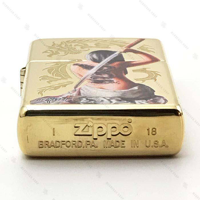 فندک زیپو Zippo برنجی طرح Mazzi