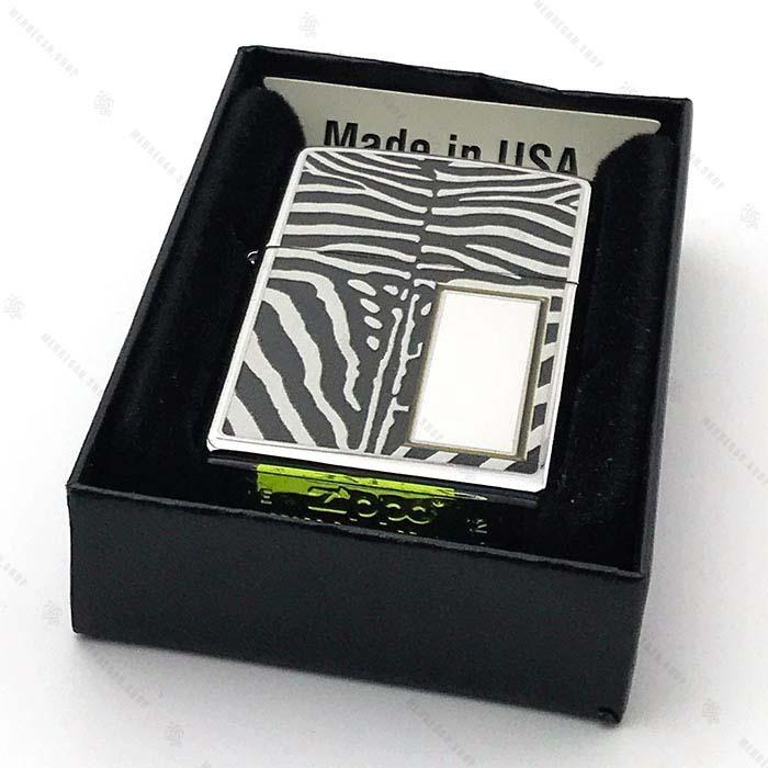فندک اورجینال زیپو Zippo مدل Zebra Print
