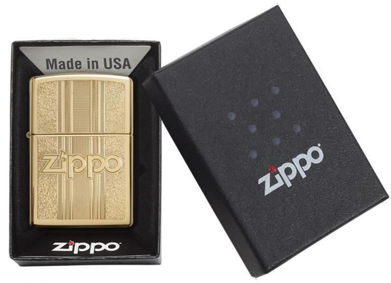 فندک برنجی زیپو مدل zippo and pattern design