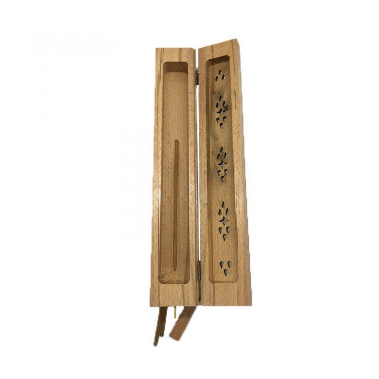 جاعودی تابوتی حکاکی شده چوبی ۲۹ سانتی متری