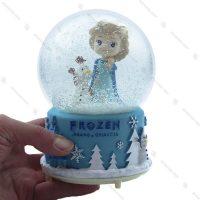 گوی برفی موزیکال بزرگ طرح فروزن Frozen