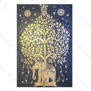 بک دراپ طرح درخت زندگی و فیل