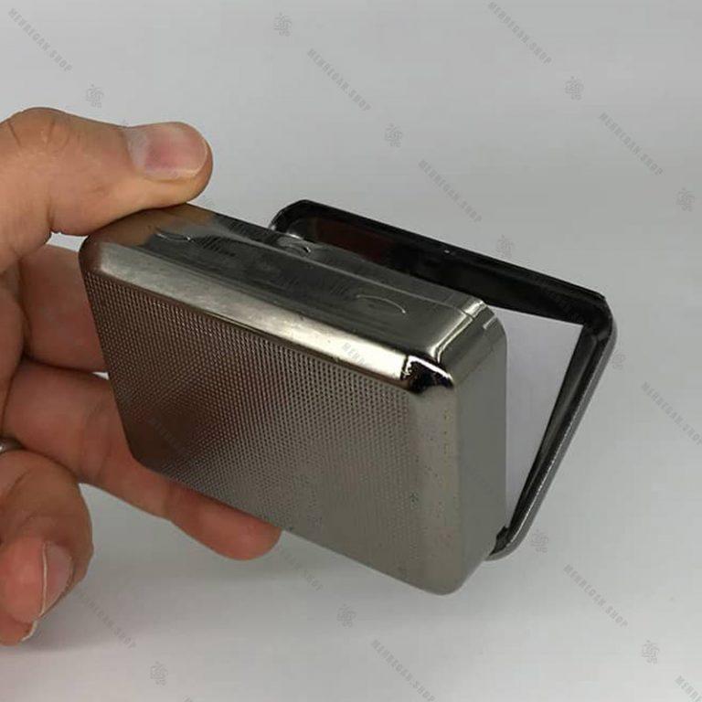 جعبه توتون سیگار پیچ استیل کوچک