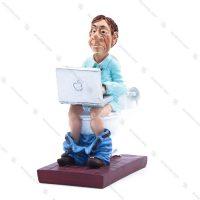 مجسمه دکوری رزین طرح Businessman