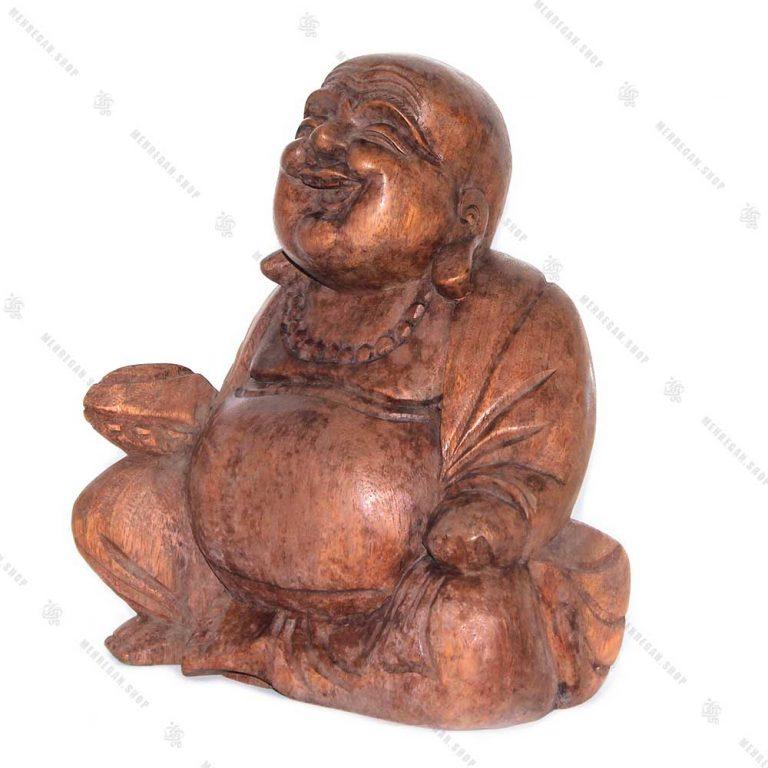 مجسمه چوبی هپی من ثروت