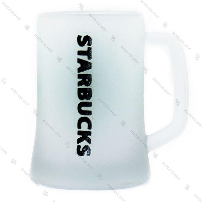 ماگ شیشه ای بلند طرح مات Star Bucks
