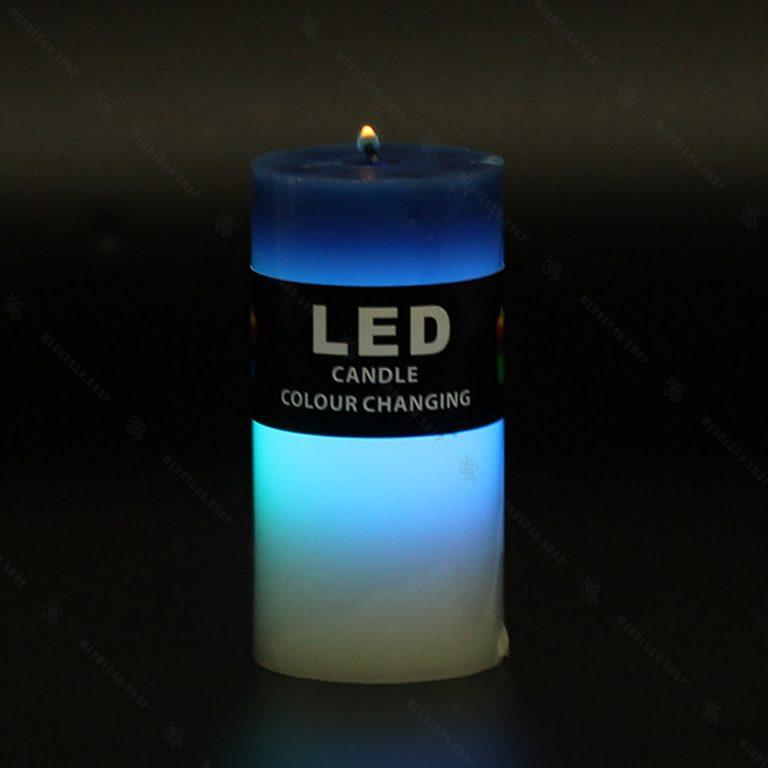 شمع ال ای دی دار آبی