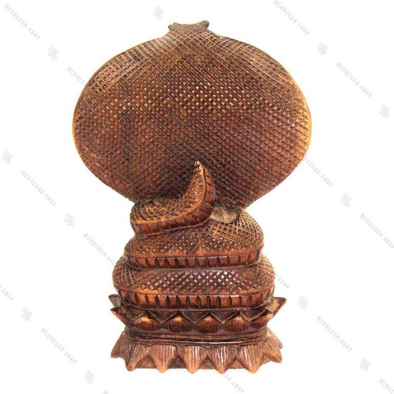 مجسمه چوبی طرح مار کوچک