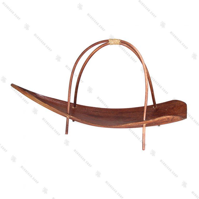 سینی دکوری چوبی طرح قایق
