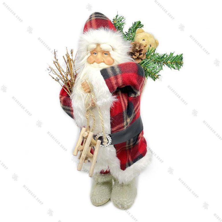 عروسک بابانوئل شاخه بدست