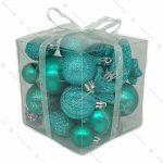 پکیج مربعی اویز کریسمسی آبی نیلی